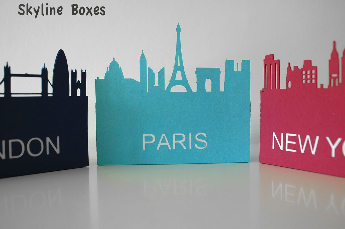 skyline box paper cutting 3d svg files