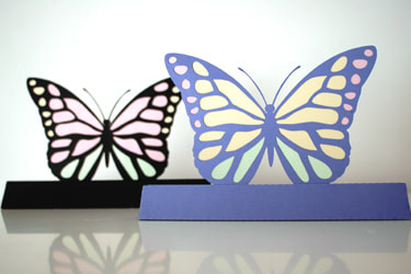 colourwing butterfly svg paper cutting template 3d